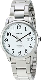 Men's Easy Reader Quartz Watch with Stainless-Steel Strap, Silver, 20 (Model: TW2R23300)