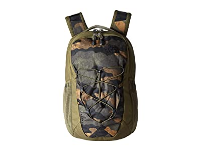 The North Face Jester (Burnt Olive Green Waxed Camo Print/Burnt Olive Green) Backpack Bags