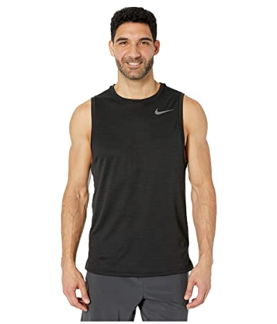 Nike Superset Top Tank (Black/Metallic Hematite) Men