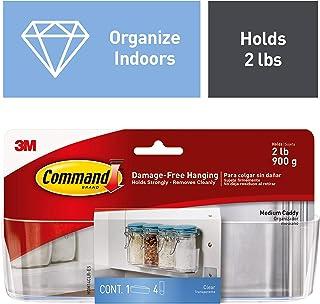 Command Clear Caddy, Medium, 1-Caddy, 4-Strips (HOM14CLR-ES), Organize your dorm