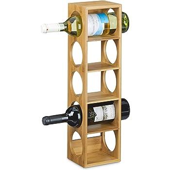 Relaxdays Etagere A Vin En Bambou Hxlxp 53 X 14 X 12 Cm 5 Emplacements Range Bouteilles 5 Etages Casier A Vin En Bois Porte Bouteilles 5 Niveaux Horizontal Nature Amazon Fr Cuisine Maison