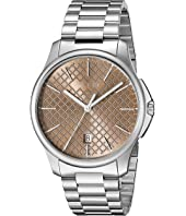 Gucci - G-Timeless Large Brown Dial Steel Bracelet