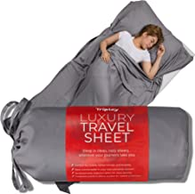 Tripley Travel Sheet, Ultra Soft 100% Tencel Sleeping Bag Liner for Hotels/Camping, Made from Luxuriously Soft Natural Plant-Based Tencel Lyocell Fibers, Satin Weave