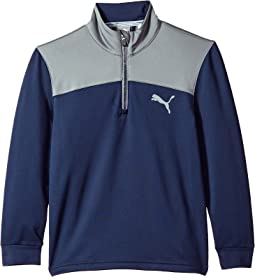 PUMA Golf Kids - Color Block 1/4 Zip JR (Big Kids)