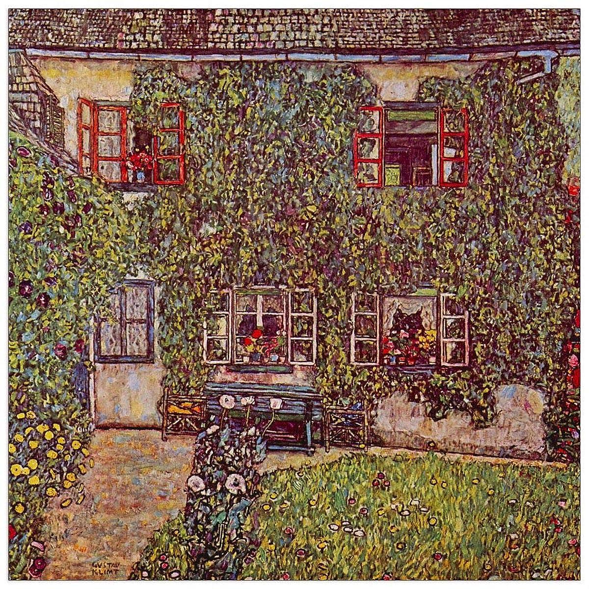 ArtPlaza TW90459 Klimt Gustav-The House of Guard Decorative Panel, 43.5x43.5 Inch, Multicolored