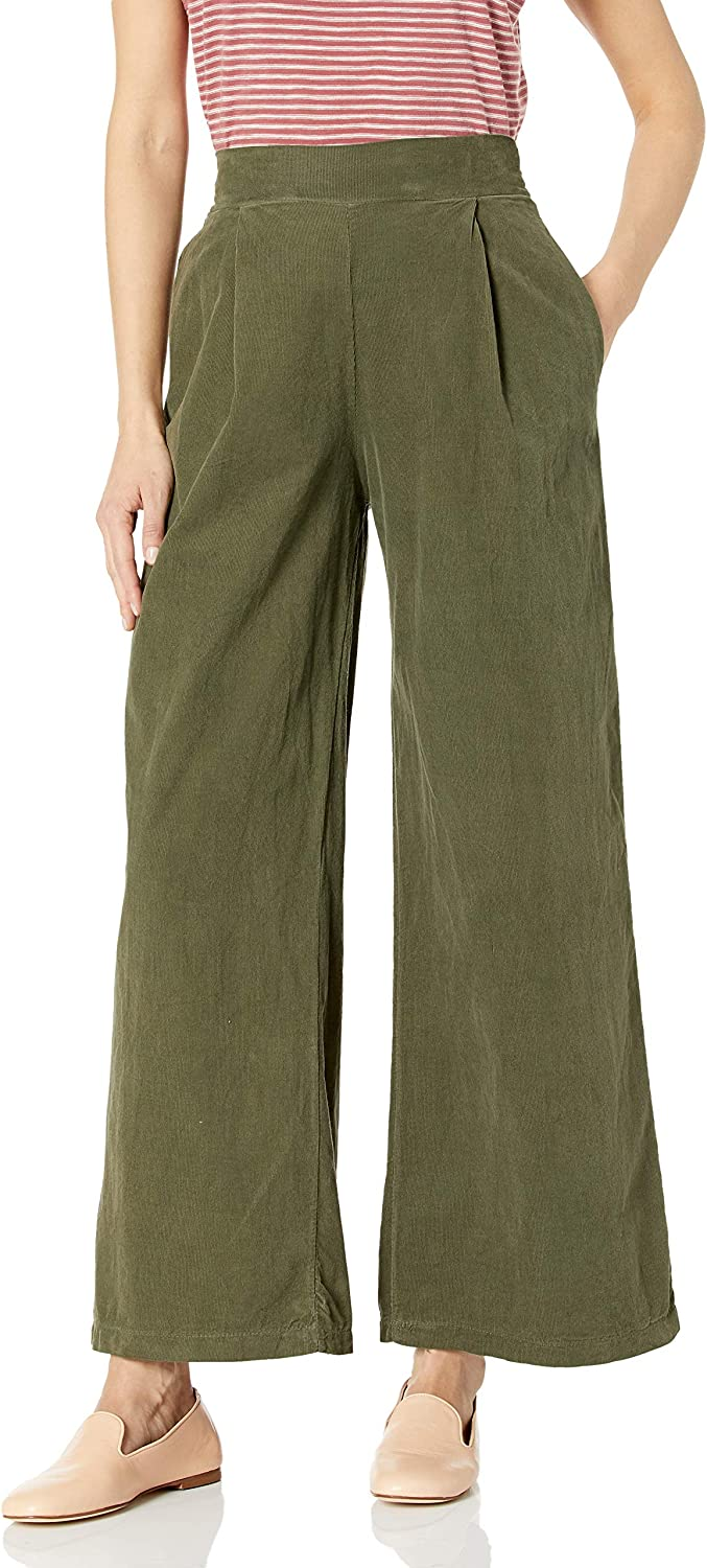 M Made in Italy Women's Straight Fit Corduroy Pants