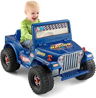 Power Wheels Hot Wheels Jeep Wrangler, Blue 6V