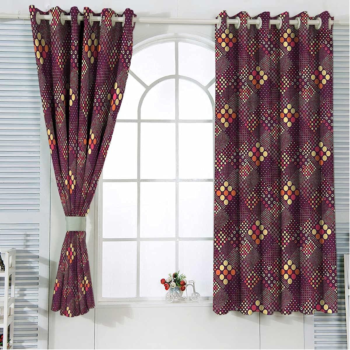 Geometric Extra Wide Curtain Large discharge sale Panels Futuri 63 Length Inch Mosaic trend rank