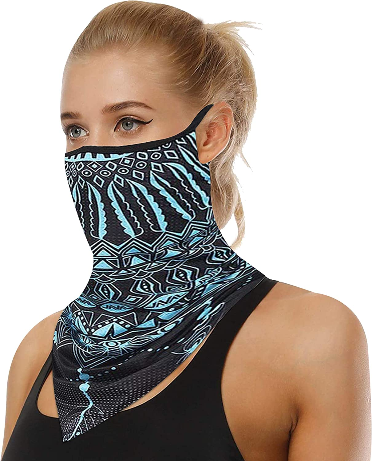 JIBIL Excellent Face Scarf with Ear Loops Washable Balaclava Cloth store Neck G