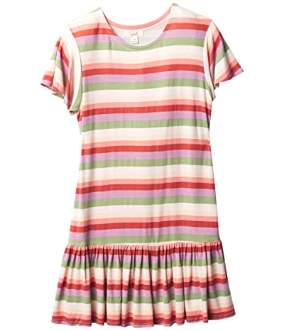 PEEK Knit Dress (Toddler/Little Kids/Big Kids) (Stripe) Girl