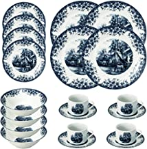 Falpro 20-Piece Farm Design Dinnerware Set Blue