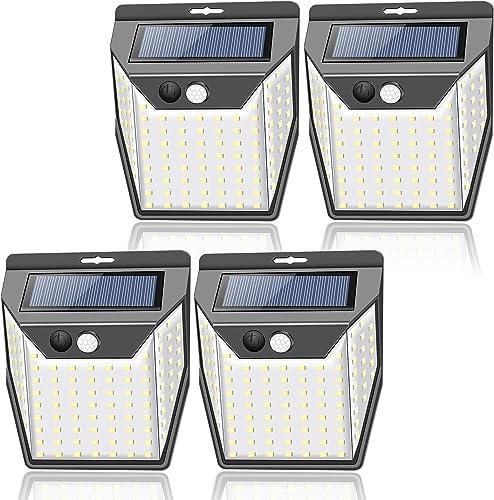 99LED Solar Lights Outdoor, 3 Optional Modes Solar Motion Sensor Light with 300° Wide Lighting, IP65 Waterproof Secur...