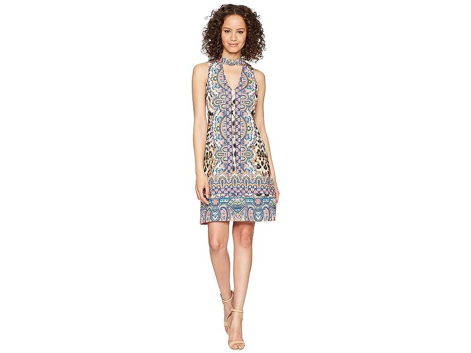 Hale Bob Travel Bright Microfiber Jersey Dress (Fuchsia) Women