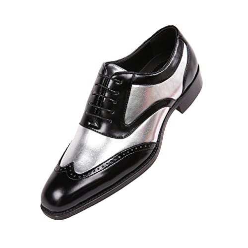 Corriee Mens Classic Modern Leather Shoes Formal Business Dress Shoes Slip On Loafer Mens Tuxedo Oxford