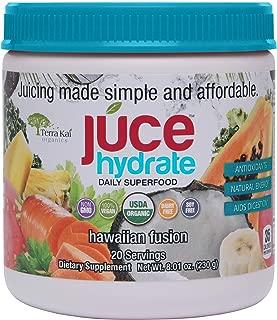 Terra Kai Organics Juce Hydrate Superfood: Hawaiian Fusion ( Blue Agave, Camu Aloe Vera, Noni) 20 Servings, 9.52 Oz