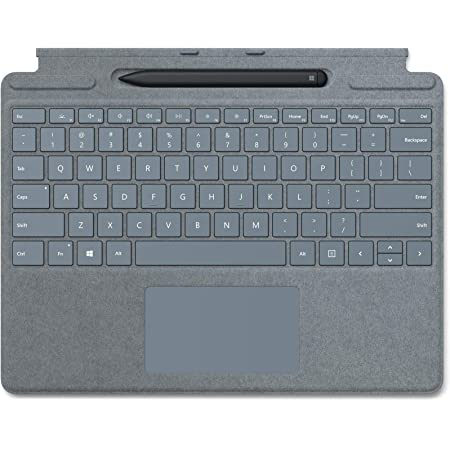 Microsoft Bundle Surface Pro X Signature Keyboard con Slim Pen, Blu Ghiaccio