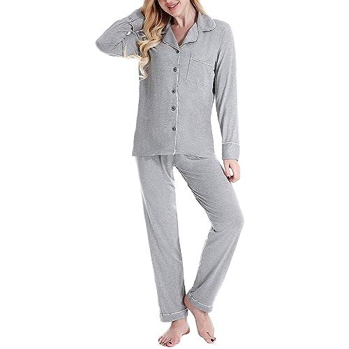 N NORA TWIPS Pajamas Women s Long Sleeve Sleepwear Soft Pj Set f3435ebac