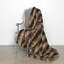 Best Home Fashion Chinchilla Faux Fur Throw Blanket - 58