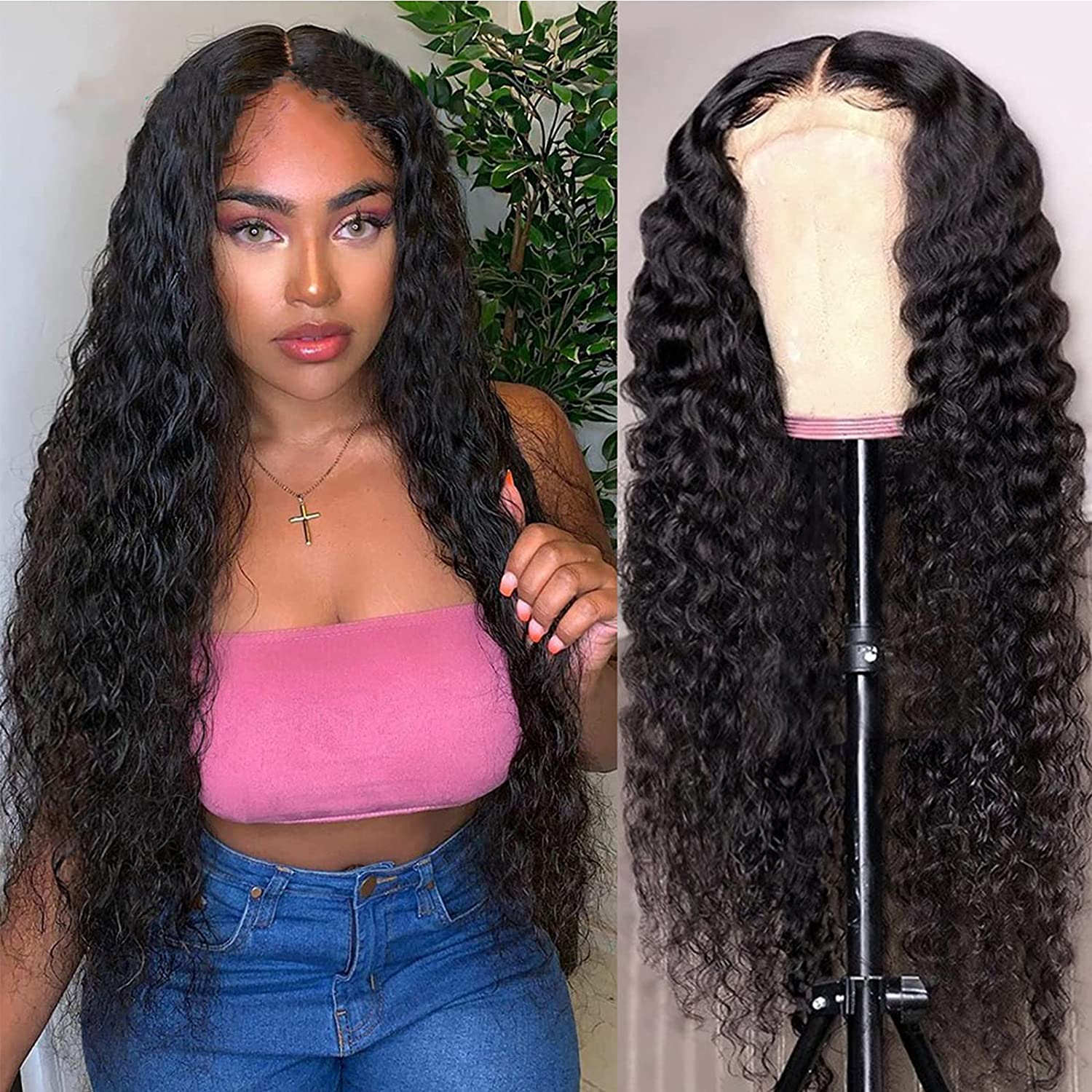 28 Inch Lace Front Wigs Human Hair Wig Wave List price Bra 4×4 Chicago Mall Closure Deep