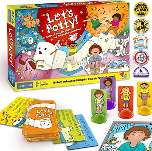 Let's Potty  Potty Training Board Game  No More Diapers, Toilet Train Toddlers Early  by Let's Potty