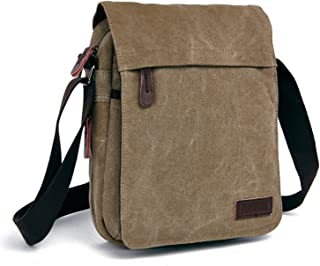 Outreo Bolsos Bandolera Vintage Messenger Bag Maletines para Hombre Bolso Bolsas de Viaje Tela para Laptop Colegio Bolso M...
