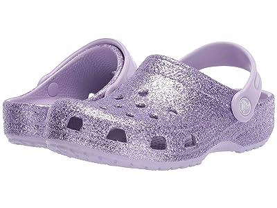 Crocs Kids Classic Glitter Clog (Toddler/Little Kid/Big Kid) (Lavender) Girl