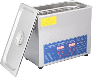 Loritar(ロリター)超音波洗浄器 超音波クリーナー 洗浄機 パワフル 180W 40KHZ 6L殺菌消毒 温度/タイマー設定可能 リング メガネ 時計 歯 コイン 強力 業務用 説明書付き