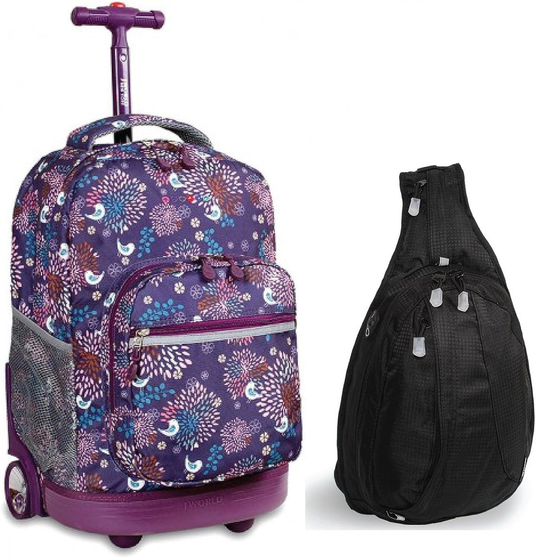 Sunrise Rolling Backpack & Stacy Sling Backpack Set (Baby Bi...