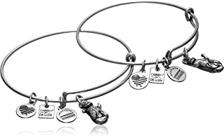 Womens Charity by Design Side by Side Set of 2 Expandable Wire Bangles