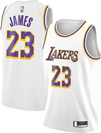 Outerstuff Lebron James Los Angeles Lakers #23 White Youth Association Edition Swingman Jersey