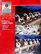 Home Accents Holiday Living All-Purpose Universal Indoor / Outdoor Shingle / Gutter Christmas Light Clips for Mini, Icicle, Rope, C7, C9, LED, Globes and More - 150 Hooks