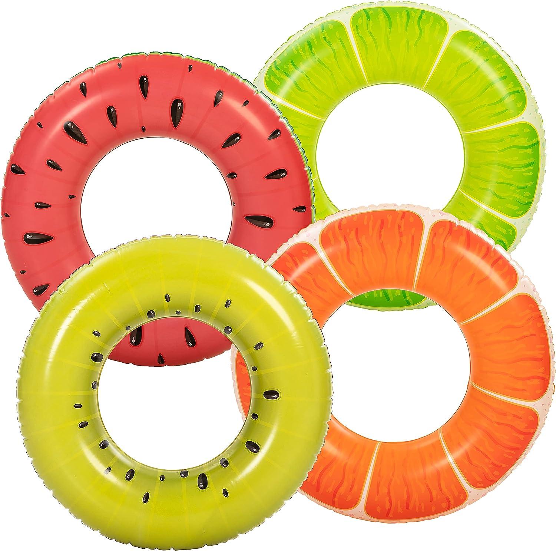 Inflatable Fruit Pool Floats Ranking TOP14 Translated 4PCS Orange S Lemon Watermelon Kiwi