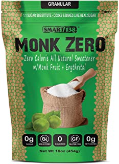 Sponsored Ad - Monk Zero - Monk Fruit Sweetener, Non-Glycemic, Keto Approved, Zero Calories, 1:1 Sugar Substitute (Granula...