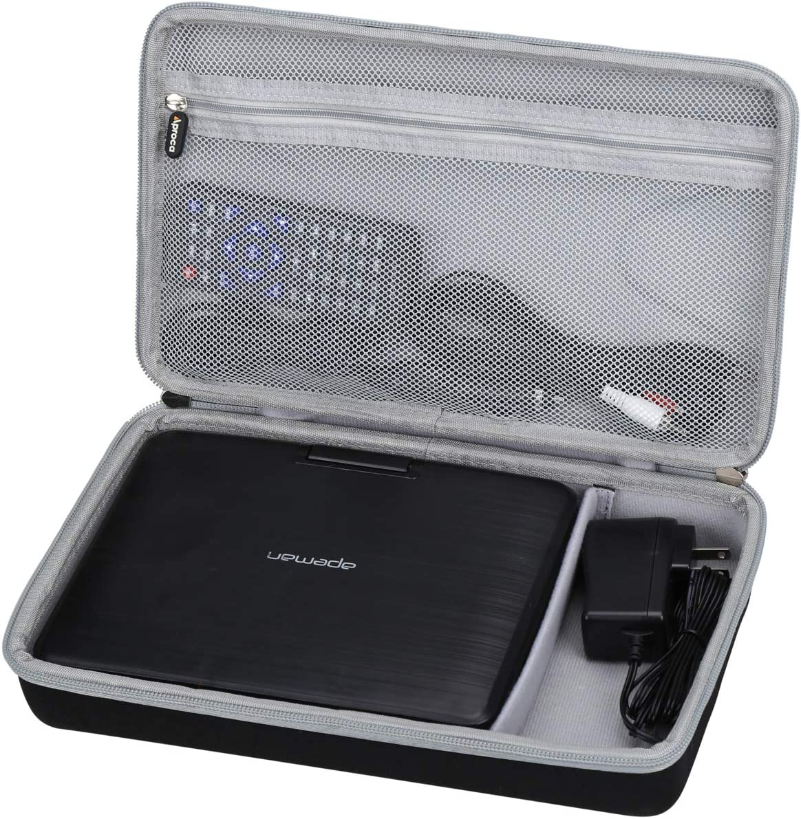 Aproca Inventory cleanup selling sale Hard Carrying Travel Case for APEMAN Portable DVD Free shipping anywhere in the nation P 9.5''
