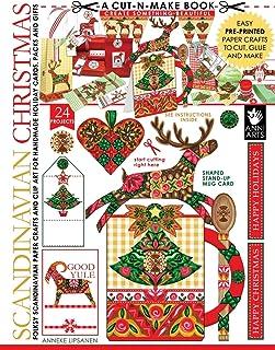Scandinavian Christmas Cut-n-Make Book: Folksy Scandinavian Paper Crafts and Clip Art for Handmade Holiday Cards, Packs an...