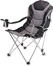 ONIVA - a Picnic Time Brand Portable Reclining Camp Chair, Black/Gray