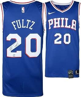 Markelle Fultz Philadelphia 76ers Autographed Blue Swingman Jersey - Upper Deck - Fanatics Authentic Certified