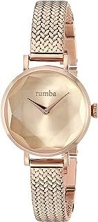 RumbaTime Women's 'Hudson Gem Weave' Quartz Stainless Steel Casual Watch, Color:Rose Gold-Toned (Model: 27518)