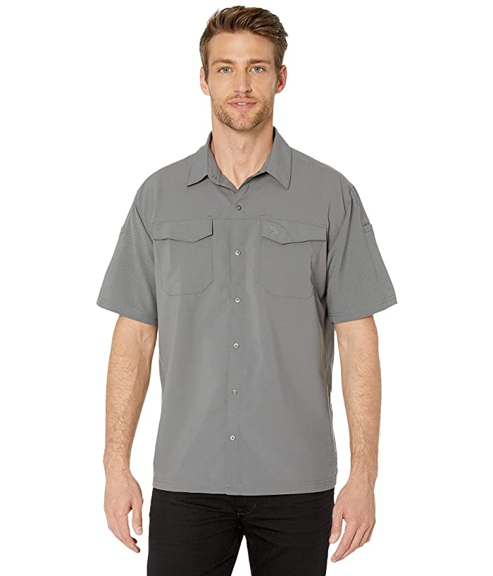 5.11 Tactical  Freedom Flex Woven Short Sleeve Shirt (Storm) Mens Clothing