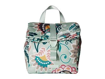 Vera Bradley Lighten Up Lunch Tote (Mint Flowers) Handbags