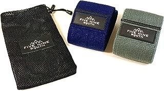 Five Nine South Premium Hip Resistance Bands   Set of Two (Each Band Different Material) Non-Slip Fabric Cloth Heavy Duty Cotton Bands   Tone, Activate, Sculpt & Build Glutes, Quads, Hips, Abductors.