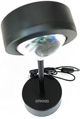 Citatrad LED-Stehlampe, Projektor, Rot, Sonnenuntergang, Stimmungslicht, Nachtlicht, Projektor, drehbar 180 °, für Haus, Studio, Dekoration, Hochzeit, Geburtstag, Party