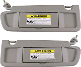 IAMAUTO 70594 Left Driver and Right Passenger Side Clear Gray Sun Visors Pair for Honda..