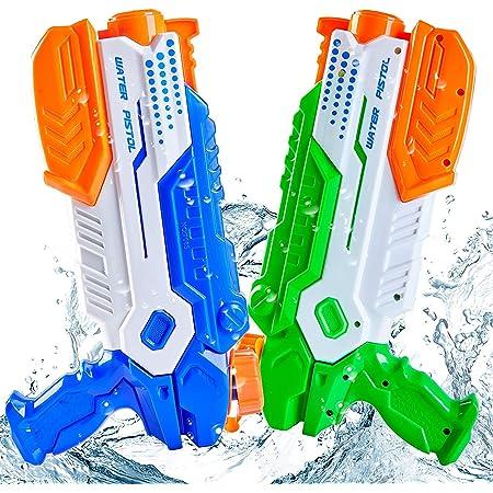 Yetech Pistola ad acqua, confezione da 2 pistole ad acqua con 520 ml per bambini e adulti Grande capacità di tiro a lunga gittata Ottimo per il combattimento in acqua in piscina, giardino e spiaggia