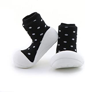 Attipas Urban Dot Baby Walker Shoes, Black/White, Medium