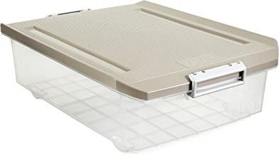 Tatay Underbed Storage Box, 32 L, Polypropylene, Brown, One Size