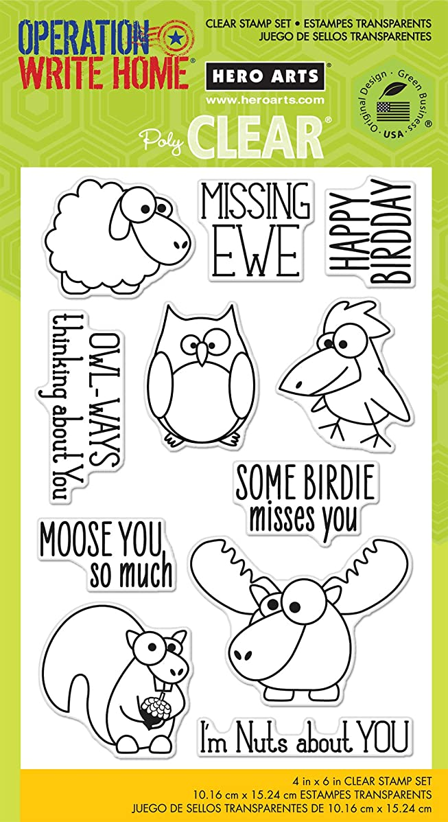 Hero Arts OWH Missing You Clear Stamp Set