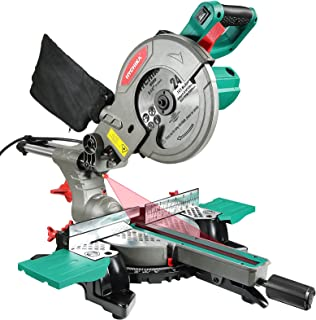 Sponsored Ad – Mitre Saw, 1500W HYCHIKA Sliding Compound Mitre Saw, 230mm Slide, 4500RPM with 45° Bevel, Laser Guide, with...