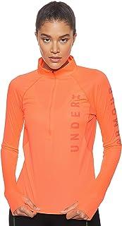 Under Armour Women's UA Speed Stride Split Wordmark Half Zip T-Shirt