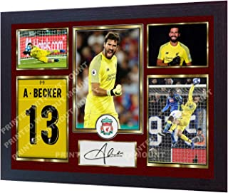 S&E DESING New Alisson Becker Liverpool FC Signed Autographed Photo Poster mo Framed
